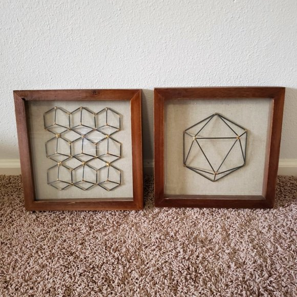 Threshold Framed Faceted Wire Hexagon (2) - Target